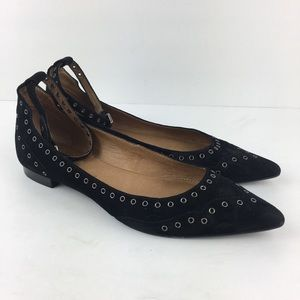 Frye Sienna Grommet Ankle Flats in Black